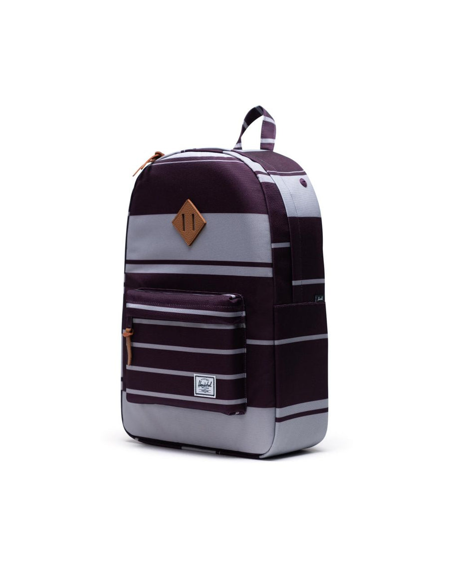 HERSCHEL Heritage Backpack Prep Stripe Blackberry Wine ACCESSORIES - Street Backpacks Herschel Supply Company
