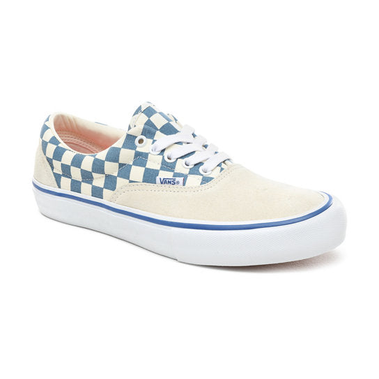 VANS Era Pro Checkerboard Classic White/ Blue Ashes Shoes