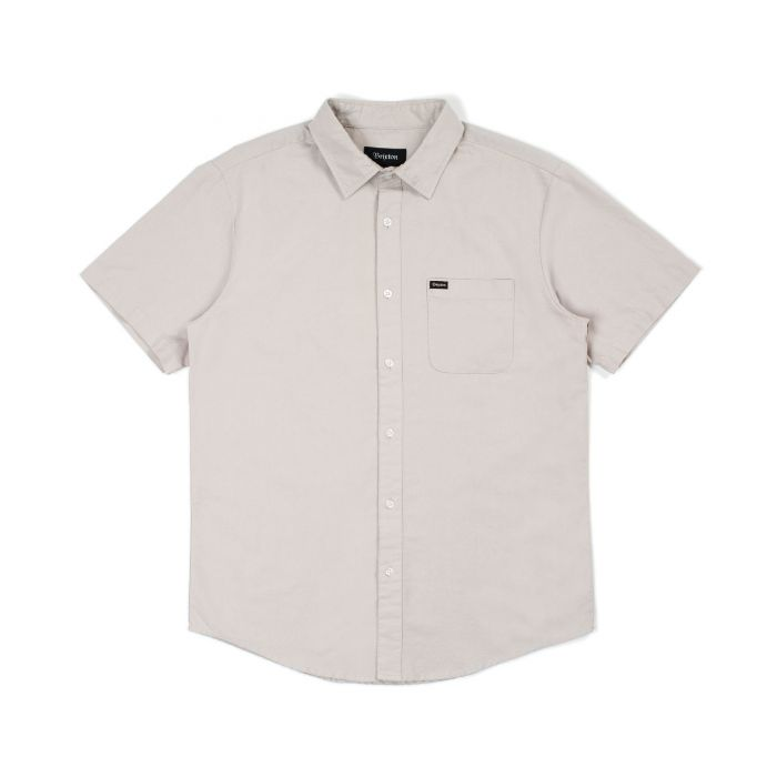 BRIXTON Charter Oxford S/S Button Up Silver