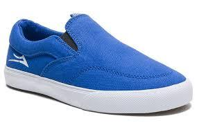 LAKAI Owen Shoes Youth Blue/White Canvas FOOTWEAR - Youth and Toddler Skate Shoes Lakai