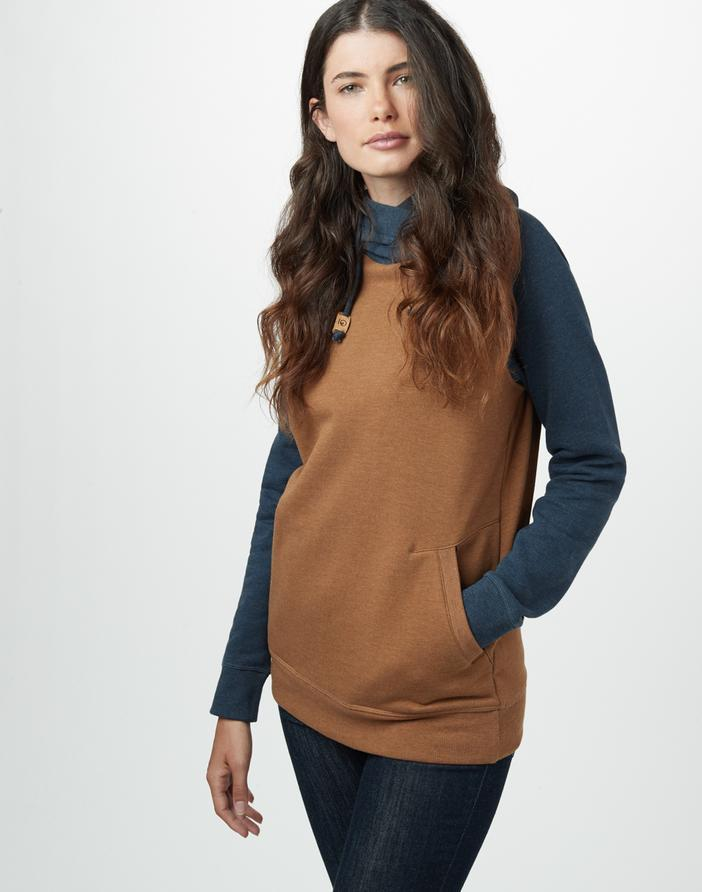 TENTREE Burney Pullover Hoodie Women's Rubber Brown Heather