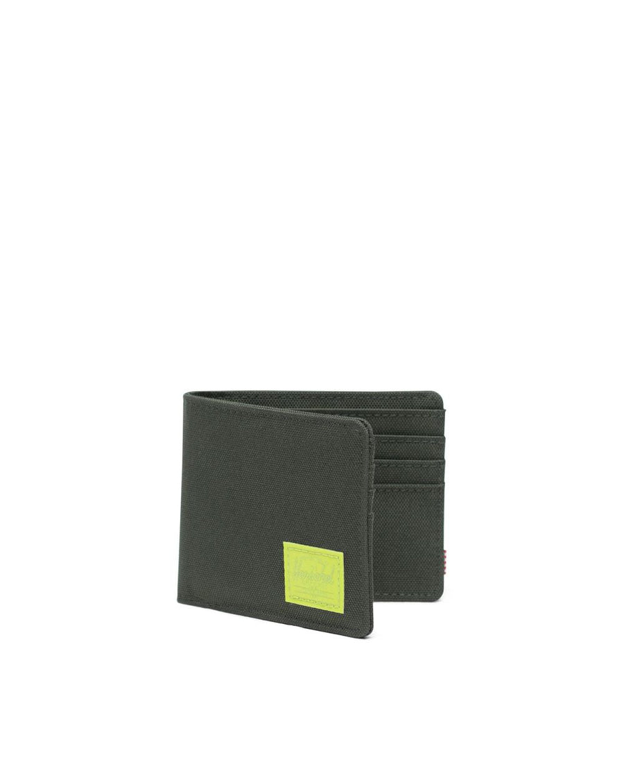 HERSCHEL Roy Wallet Dark Olive/Lime Green