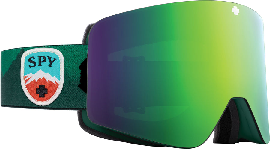 SPY Marauder Trailblazer Green - HD Plus Bronze with Green Spectra Mirror + HD LL Persimmon with Silver Spectra Mirror Snow Goggles GOGGLES - Spy Goggles Spy