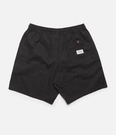 RHYTHM Linen Jam Shorts Charcoal MENS APPAREL - Men's Walkshorts Rhythm