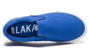 LAKAI Owen Shoes Youth Blue/White Canvas
