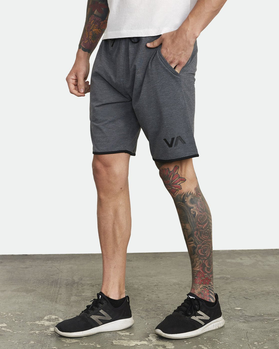 "RVCA Sport Short III 20"" Walkshort Smokey Grey Heather MENS APPAREL - Men's Walkshorts RVCA"
