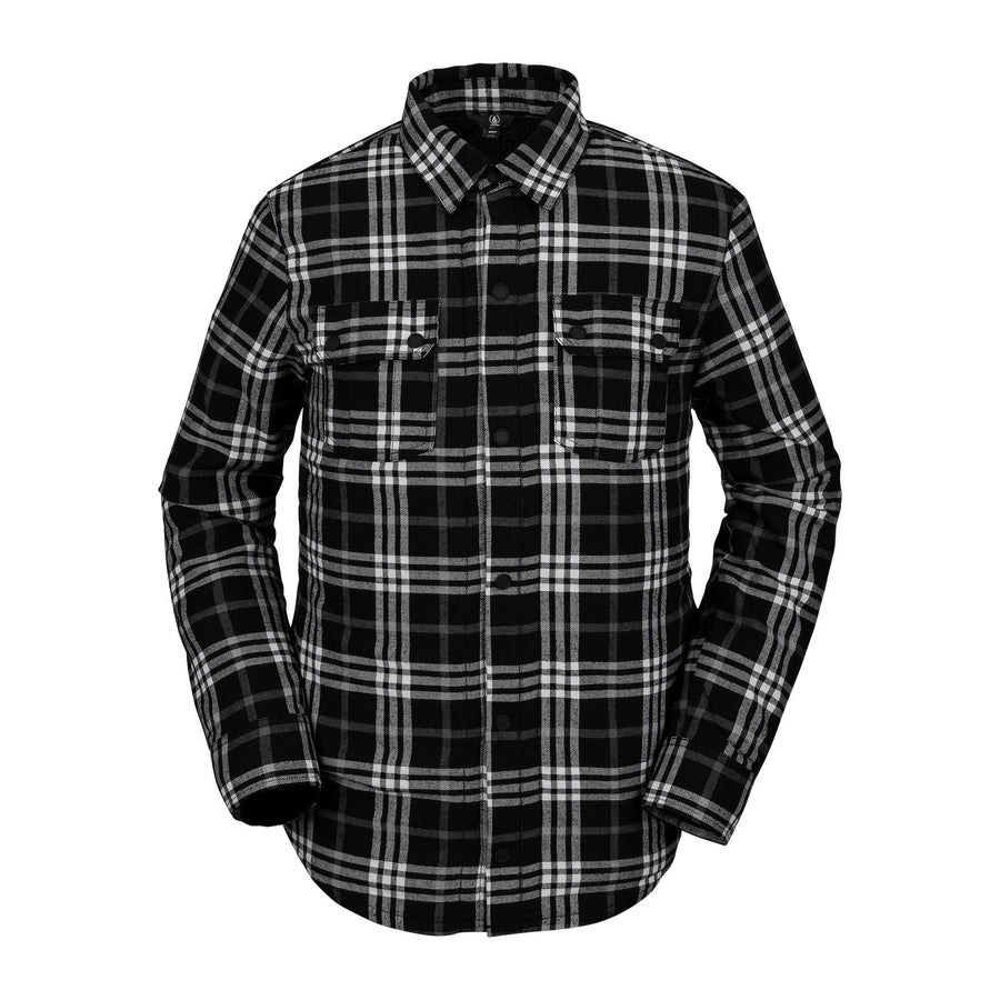 VOLCOM Sherpa Flannel Jacket Black MENS APPAREL - Men's Street Jackets Volcom