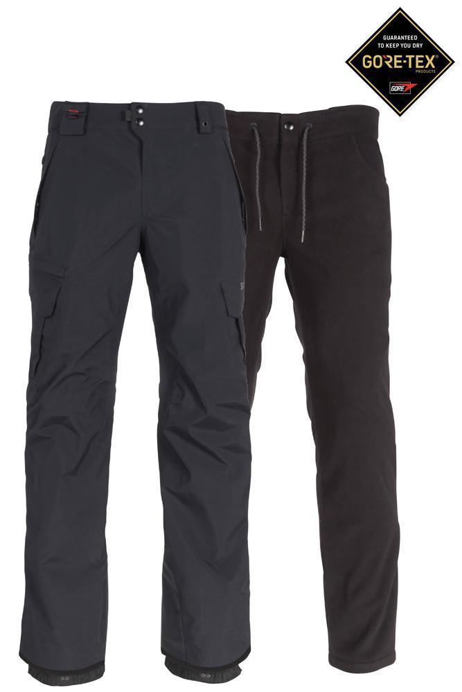 686 SMARTY 3-in-1 Cargo Gore-Tex Snowboard Pants Black 2020 MENS OUTERWEAR - Men's Snowboard Pants 686 L