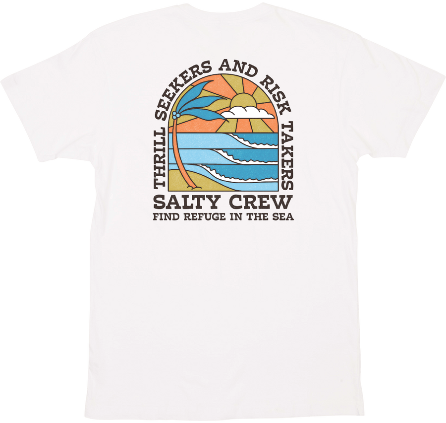 SALTY CREW Paradiso T-Shirt White MENS APPAREL - Men's Short Sleeve T-Shirts Salty Crew