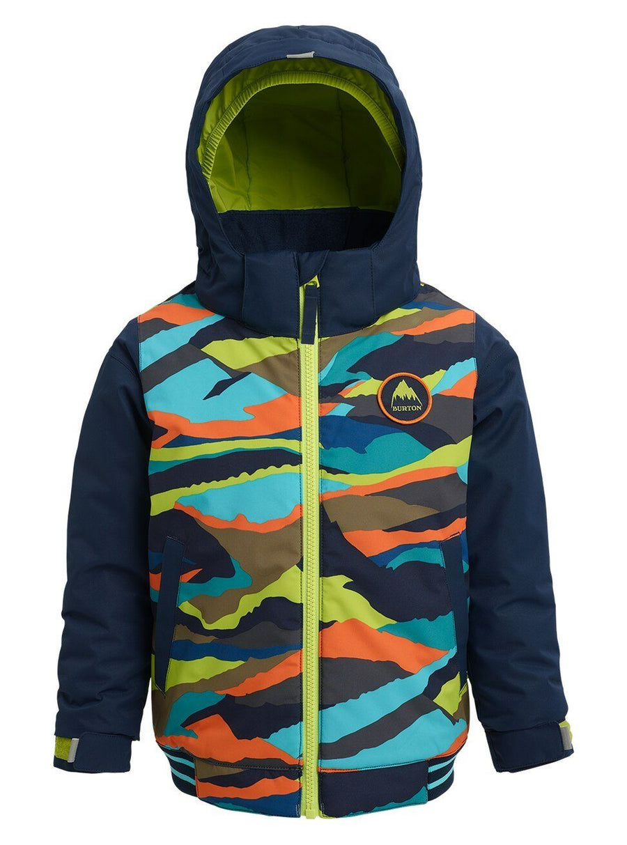 BURTON Gameday Bomber Snowboard Jacket Toddler Summit Stripe/Dress Blue 2020 YOUTH INFANT OUTERWEAR - Infant Outerwear Burton