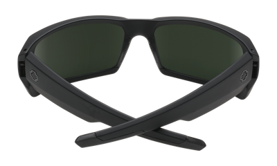 aba9eb8588 SPY General Soft Matte Black - Happy Grey Green Polarized Sunglasses