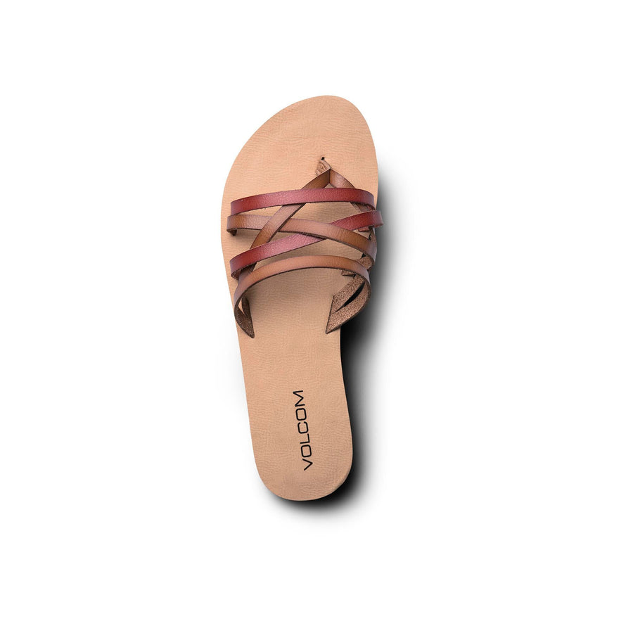 VOLCOM Legacy Sandals Women's Tan FOOTWEAR - Women's Sandals Volcom