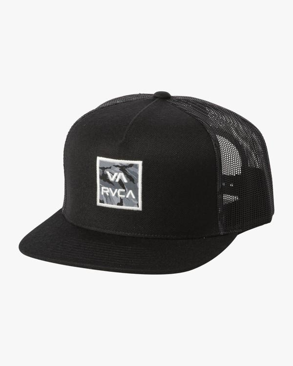 RVCA VA ATW Print Truck Hat Boys Black KIDS APPAREL - Boy's Hats RVCA