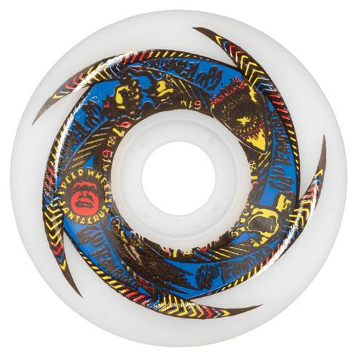 OJS II Rider Speedwheels 97A 61mm White Skateboard Wheels SKATE SHOP - Skateboard Wheels OJS