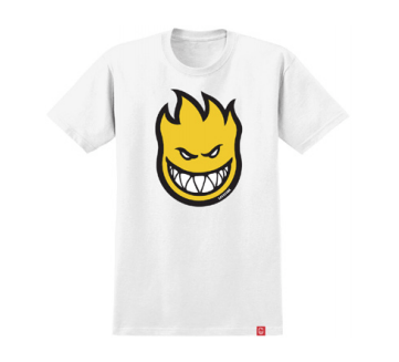 SPITFIRE Bighead Fill T-Shirt Youth White/Yellow