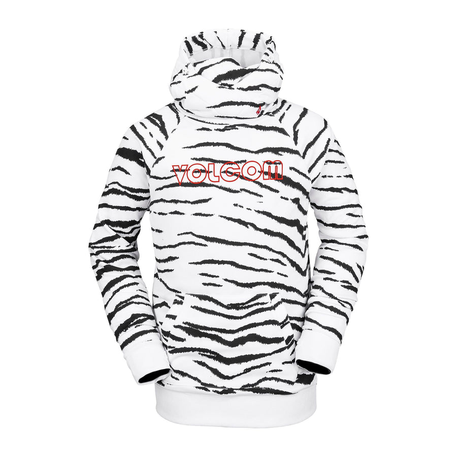 VOLCOM Hydro Riding Pullover Hoodie White Tiger