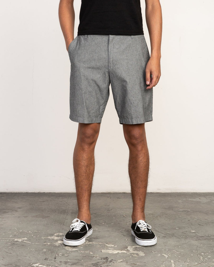 RVCA That'll Walk Oxford Walkshorts Rvca Black MENS APPAREL - Men's Walkshorts RVCA 30