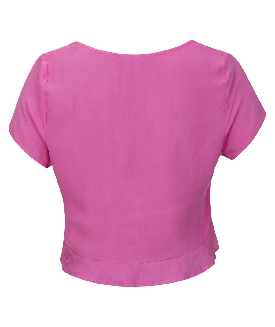 HURLEY Sydney Short Sleeve Top Womens China Rose WOMENS APPAREL - Women's Blouses Hurley