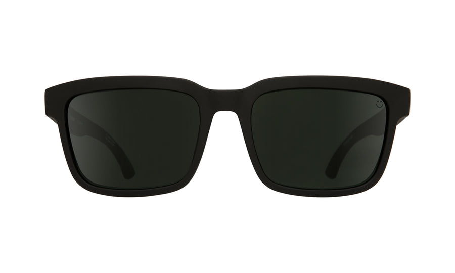 SPY Helm 2 Matte Black - Happy Grey Green Polarized Sunglasses