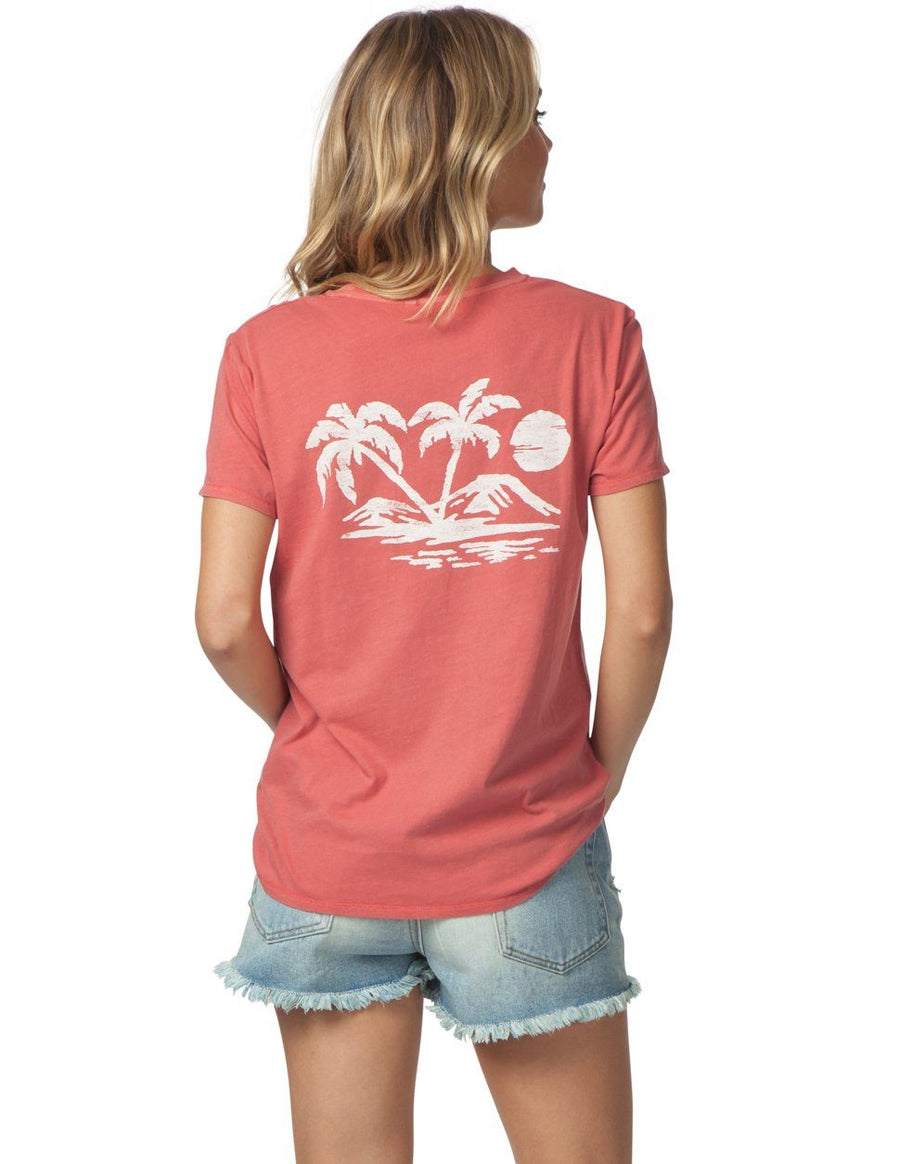 RIP CURL Palm Scenic Pocket Boy T-Shirt Rose Gold