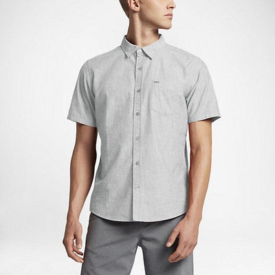 HURLEY One and Only S/S Button Up MENS APPAREL - Men's Short Sleeve Button Up Shirts Hurley LIGHT BONE M