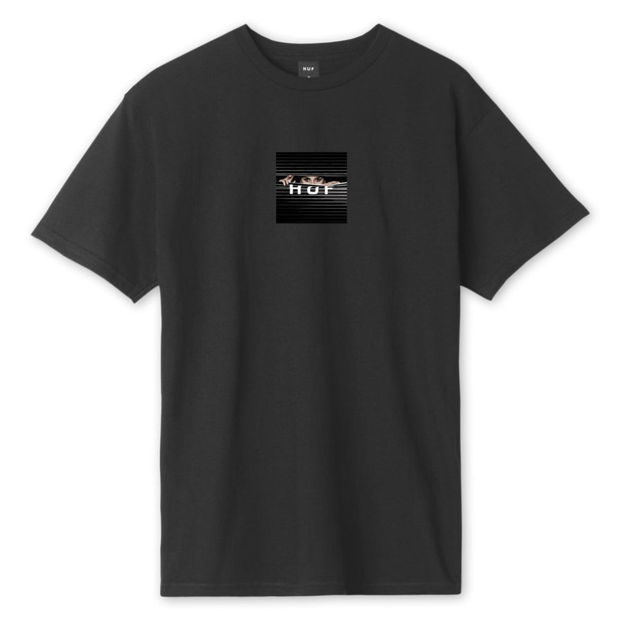 HUF Voyeur Logo T-Shirt Black MENS APPAREL - Men's Short Sleeve T-Shirts huf