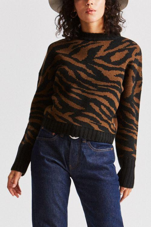 BRIXTON Claudia Sweater Women's Zebra
