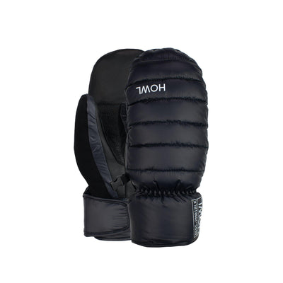 HOWL Down Mitt Black WINTER GLOVES - Men's Snowboard Gloves and Mitts Howl