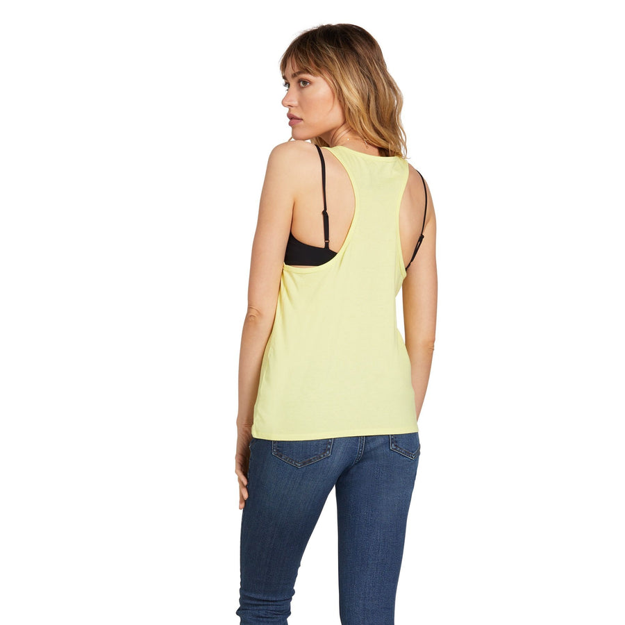 VOLCOM Stone Stoke Tank Top Women's Tropic Yellow WOMENS APPAREL - Women's Tank Tops and Halter Tops Volcom S