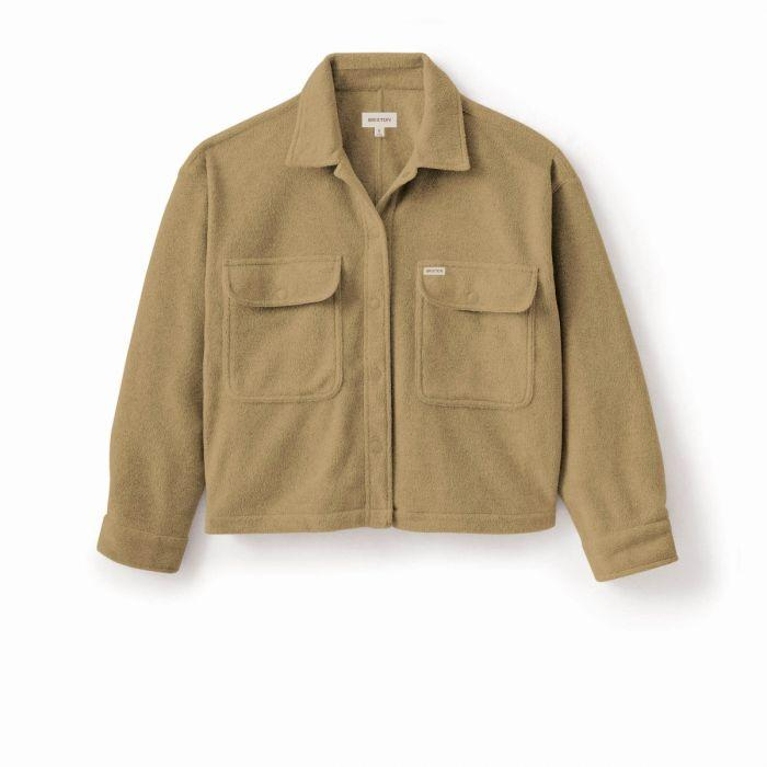BRIXTON Bowery Fleece Flannel Women's Oatmeal WOMENS APPAREL - Women's Flannels and Button Ups Brixton