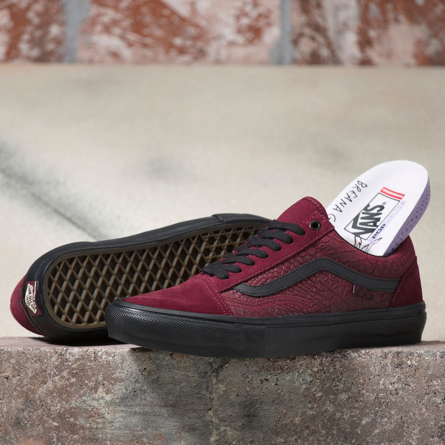VANS Skate Old Skool Shoes (Breana Geering) Port/Black