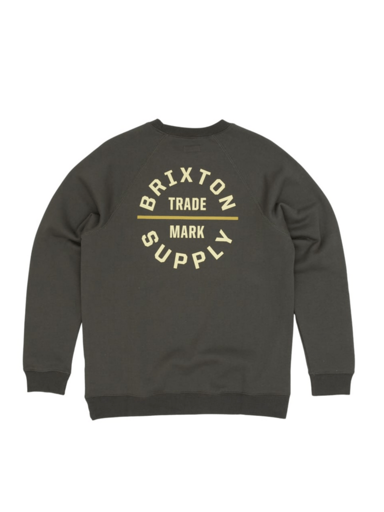 BRIXTON Oath V Crew Evergreen MENS APPAREL - Men's Sweaters and Sweatshirts Brixton