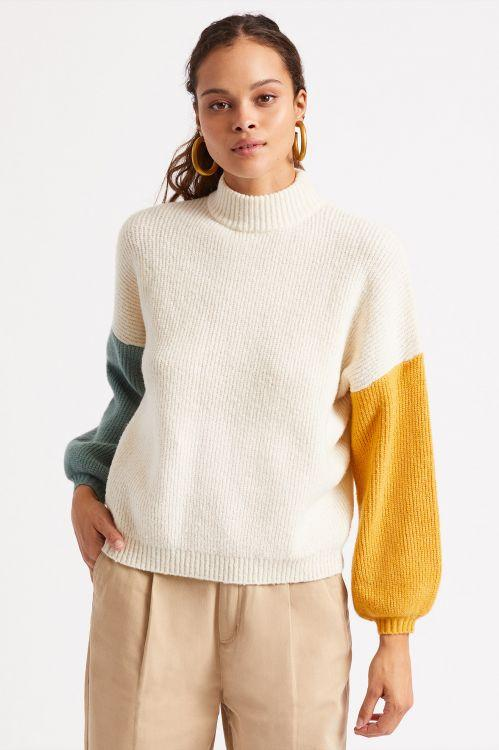 BRIXTON Burning Up Sweater Women's Off White WOMENS APPAREL - Women's Knits and Sweaters Brixton