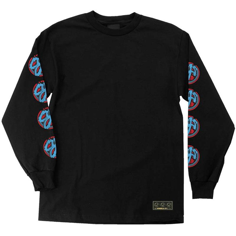 OJS Brush Logo L/S T-Shirt Black