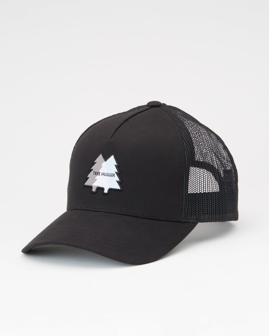 TENTREE Woven Patch Altitude Snapback Hat Meteorite Black MENS ACCESSORIES - Men's Baseball Hats Tentree