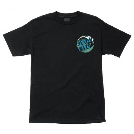 SANTA CRUZ Wave Dot T-Shirt Black