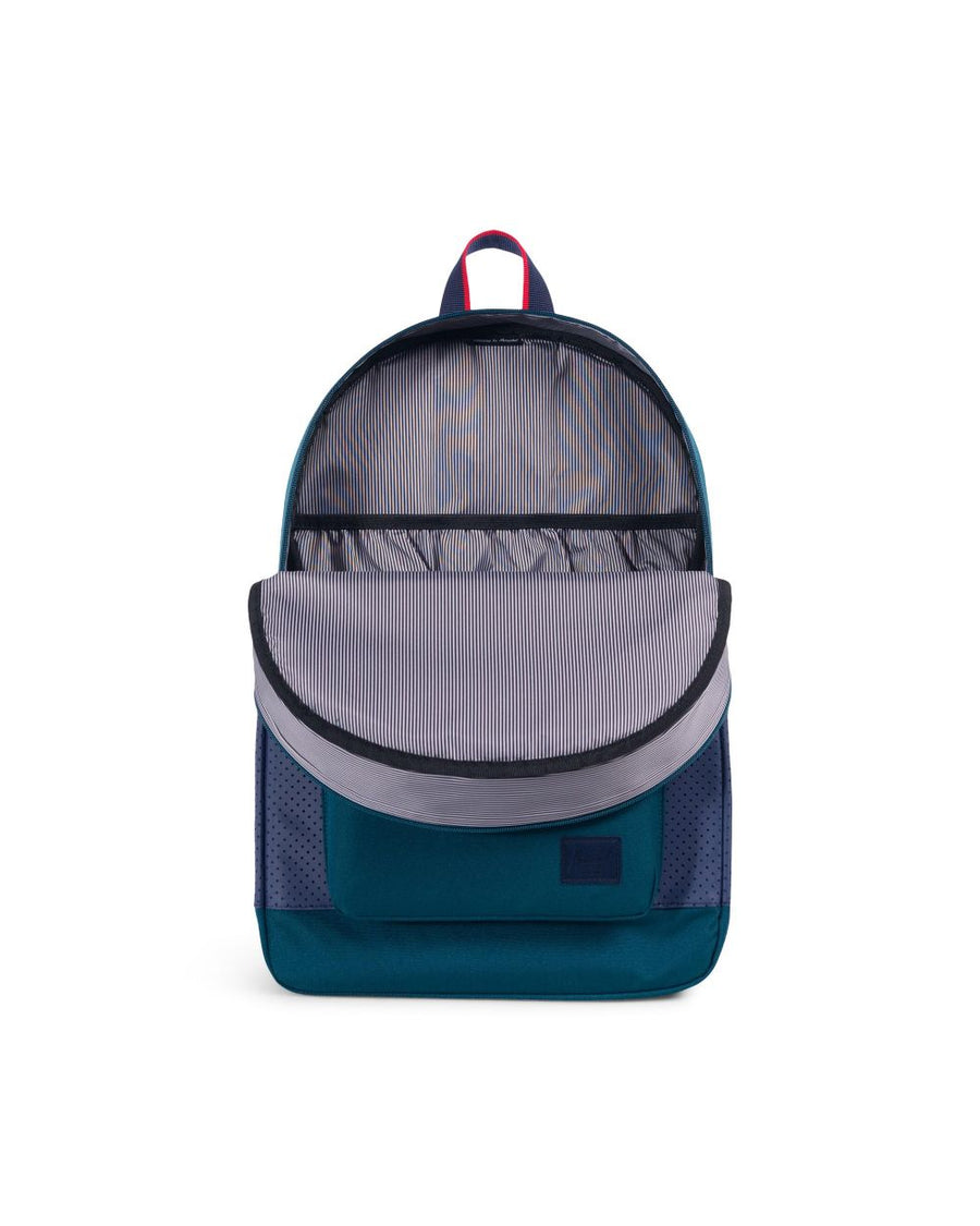 HERSCHEL Ruskin Backpack Deep Teal/Peacoat/Barbados Cherry - Aspect Collection
