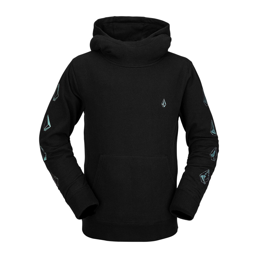VOLCOM Hotlapper Pullover Hoodie Youth Black KIDS APPAREL - Boy's Pullover Hoodies Volcom