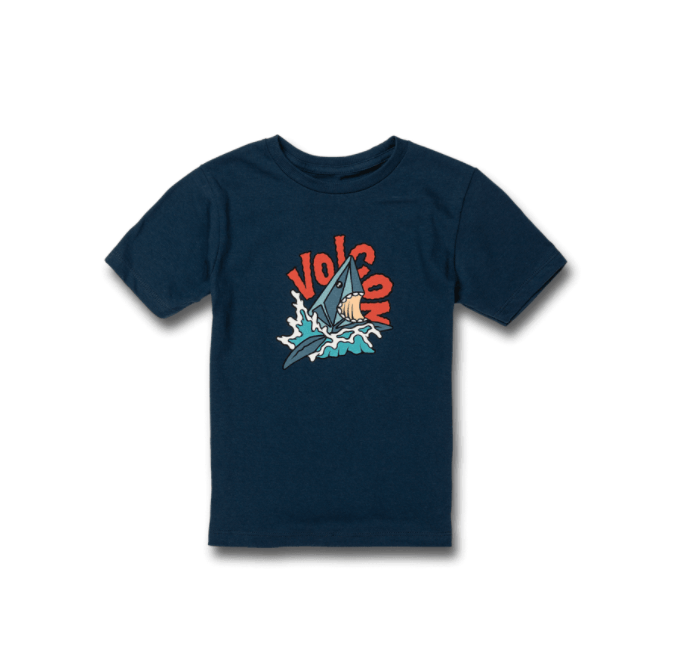 VOLCOM Sharkish T-Shirt Boys Harbor Blue KIDS APPAREL - Boy's T-Shirts Volcom