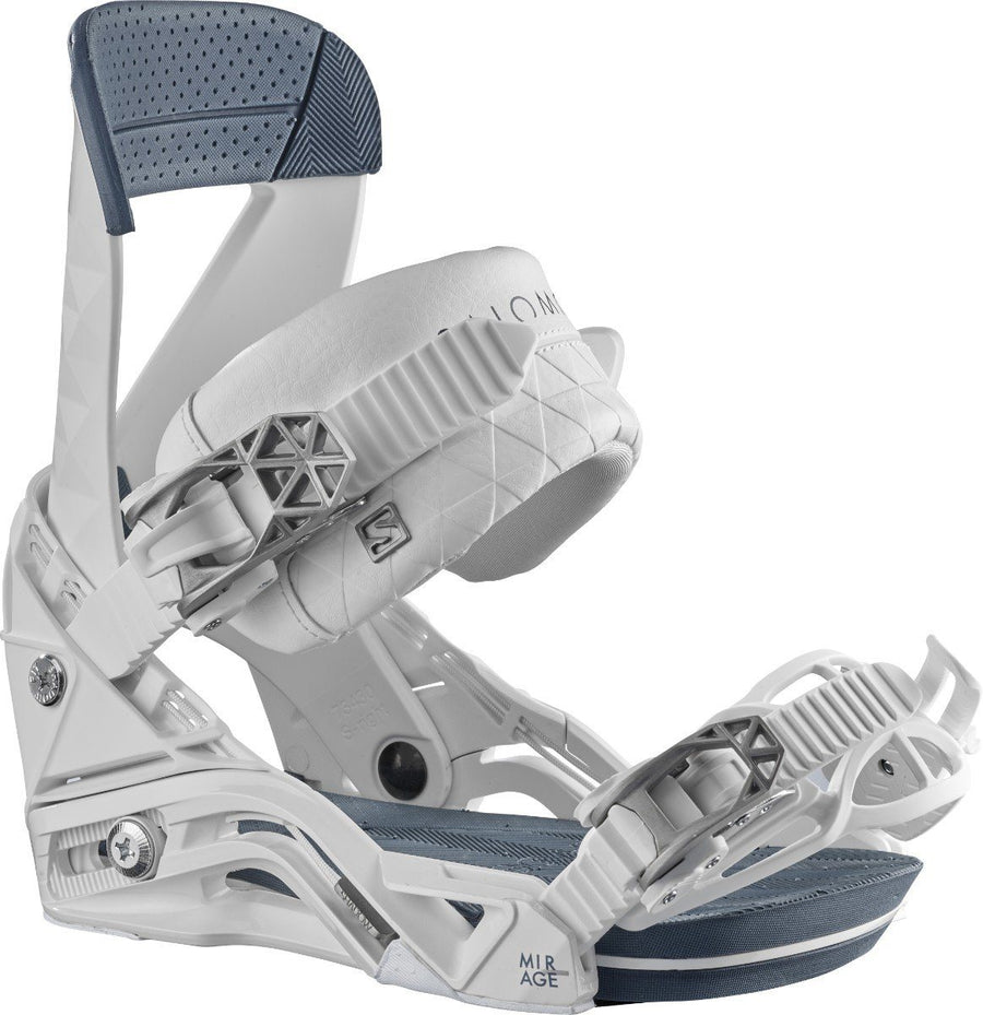 SALOMON Mirage Women's Snowboard Bindings White/Blue 2021 SNOWBOARD BINDINGS - Women's Snowboard Bindings Salomon