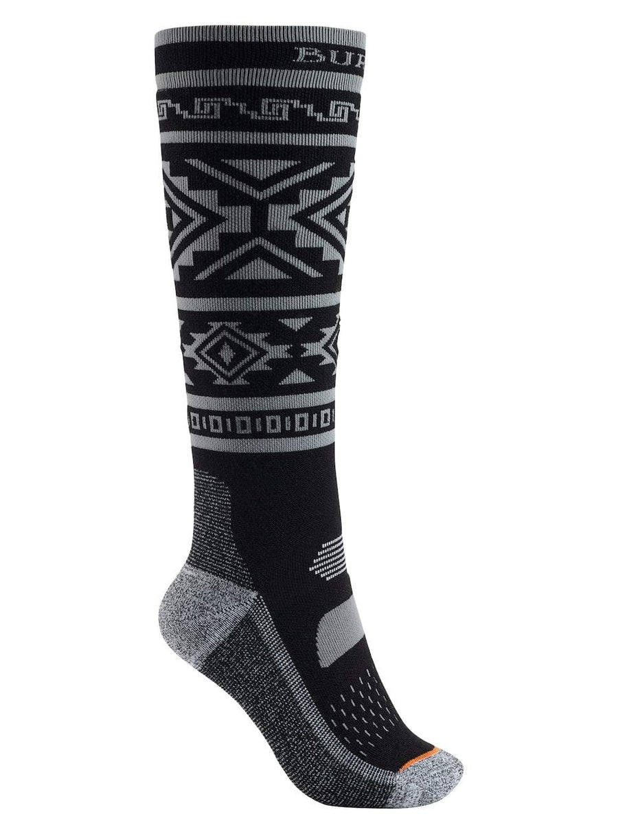 BURTON Performance Midweight Snowboard Socks Women's True Black SNOWBOARD ACCESSORIES - Women's Snowboard Socks Burton M/L