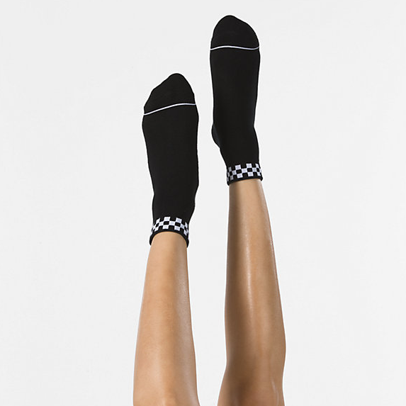 VANS Peek-A-Check Crew Socks Women's Black WOMENS APPAREL - Women's Socks Vans