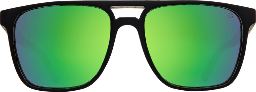 SPY Czar Matte Black/ Cushwall - Happy Bronze w/ Green Spectra Sunglasses