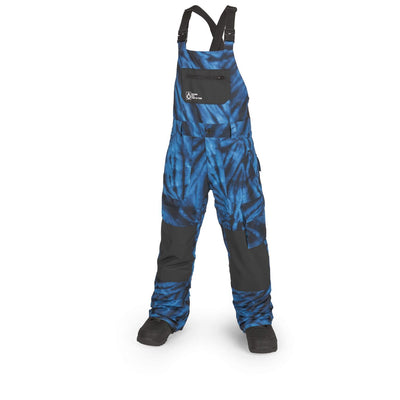 VOLCOM Barkley Bib Overall Youth Snowboard Pants Blue Tie-Dye 2019 YOUTH INFANT OUTERWEAR - Youth Snowboard Pants Volcom XL