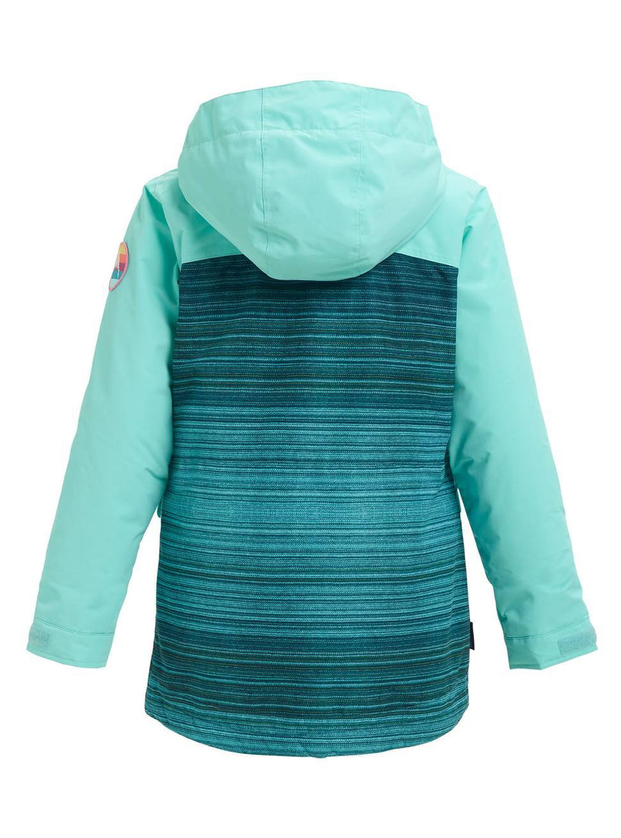 BURTON Burton Elstar Jacket Girls Tahoe Sunset Stripe/ Aruba 2019