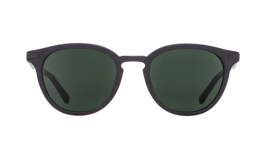 SPY Pismo Matte Black - Happy Grey Green Sunglasses