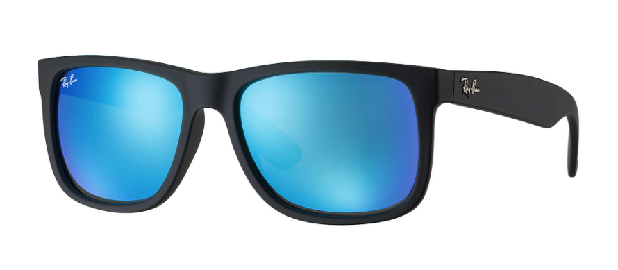 RAY-BAN Justin Color Mix 51 Black Rubber - Blue Mirror Sunglasses