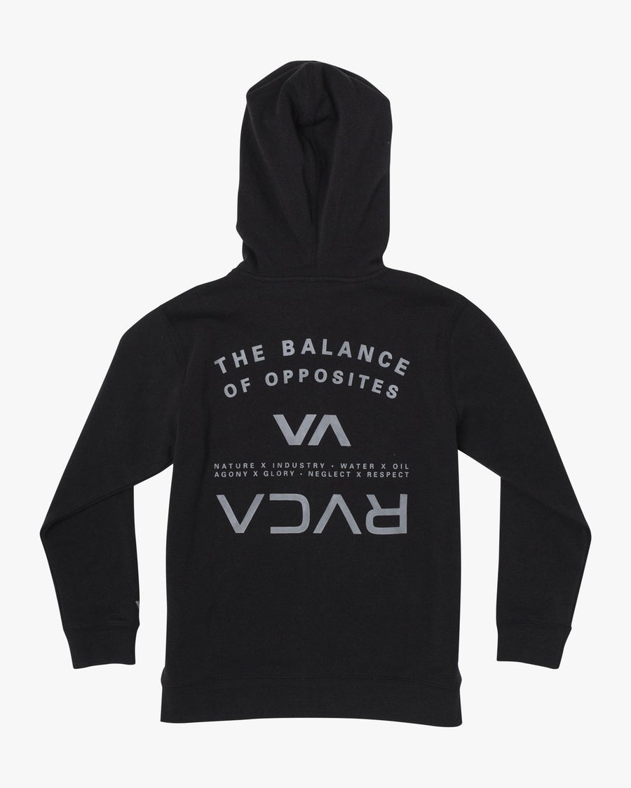 RVCA Ripper II Zip Hoodie Boys RVCA Black KIDS APPAREL - Boy's Zip Hoodies RVCA