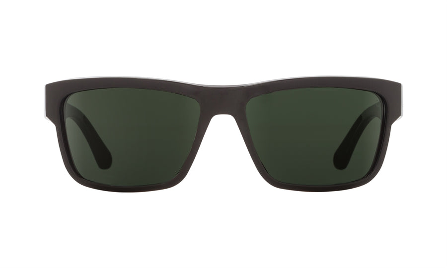 SPY Frazier Black - Happy Grey Green Polarized Sunglasses