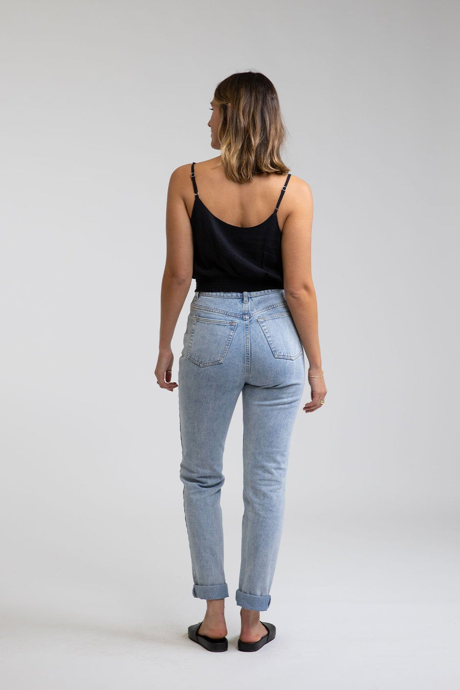 RHYTHM Hi Rise Tapered Jean Women's Light Blue WOMENS APPAREL - Women's Denim Rhythm